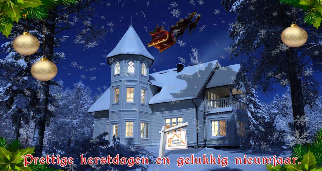 Kerstkaart - Prettige kerst en gelukkig nieuwjaar